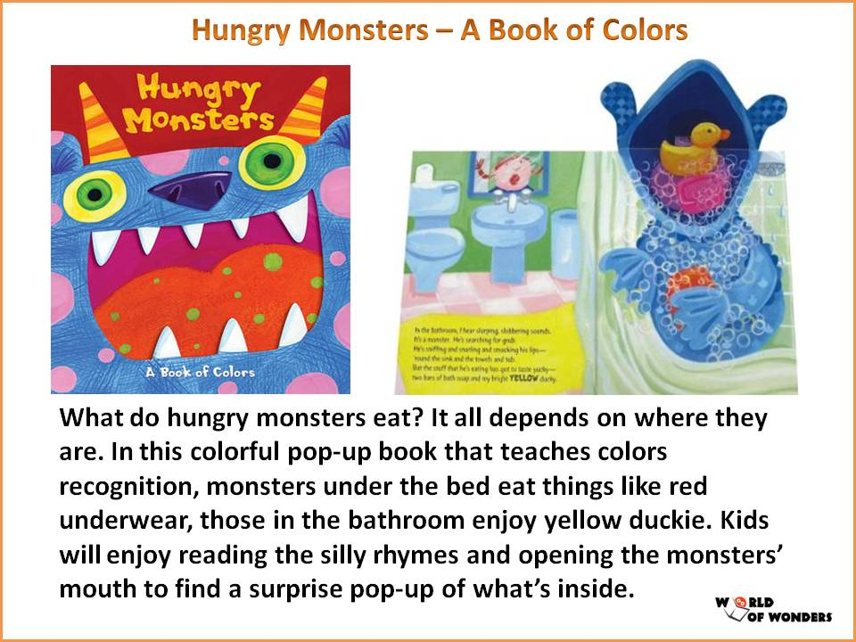 World of Wonders: Hungry Monsters - A Book of Colors