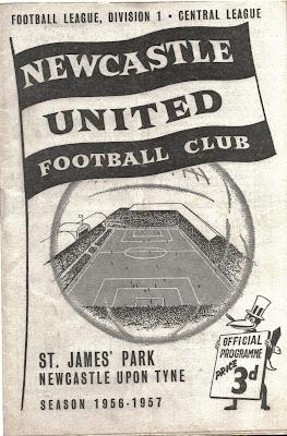 Newcastle united 1957 Football Programme
