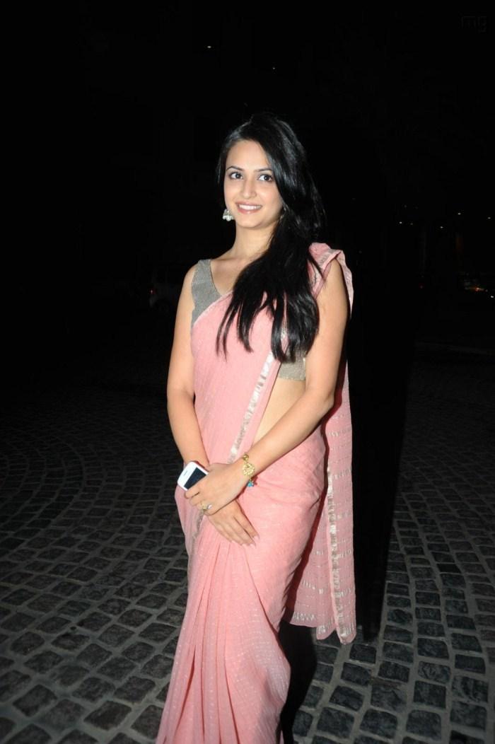 Kriti Kharbanda Latest Cute Pics in Pink Saree