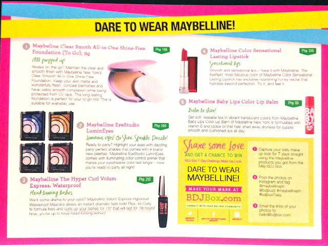 BDJ Box May 2013 Maybelline