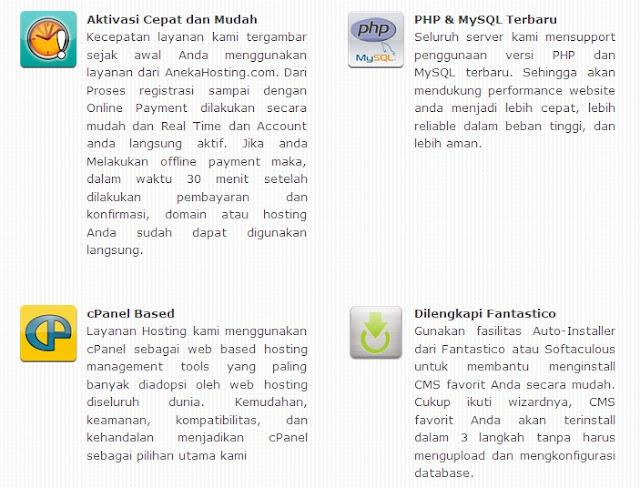 fitur hosting murah indonesia