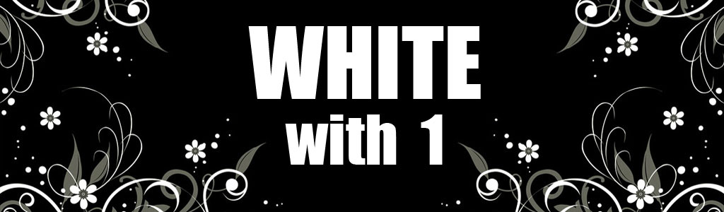 White with 1