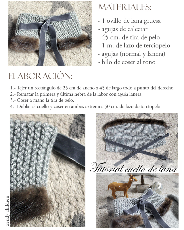 tutorial fácil cuello lana