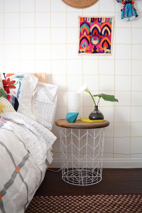 DIY Wire Basket Side Table - Oleander + Palm