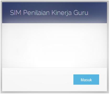 Website SIM Penilaian Kinerja Guru (SIMPAK)