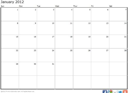 Technology World: Print A Calendar: Print Out A Calendar For The Year ...
