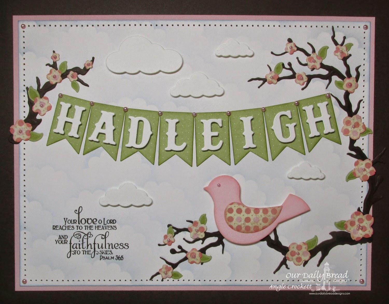 ODBD Faith, ODBD Blushing Rose Paper Collection, ODBD Custom Pennants Dies, Project Designer Angie Crockett