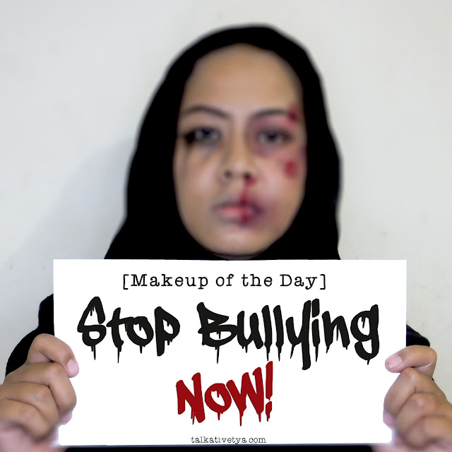 stop bullying now makeup of the day to raise awareness about bullying