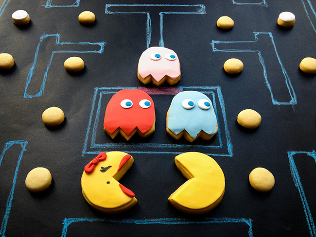 galletas decoradas pacman fantasmas