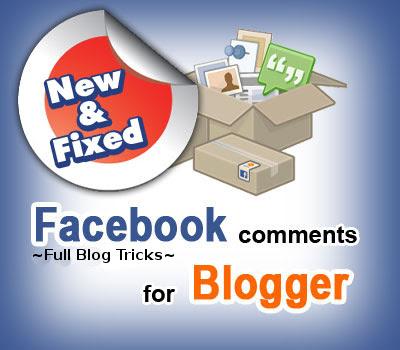 widget komentar Facebook di Blog