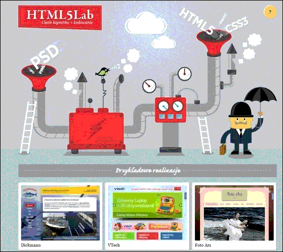 HTML5 Lab - Website design using drawings and illustration