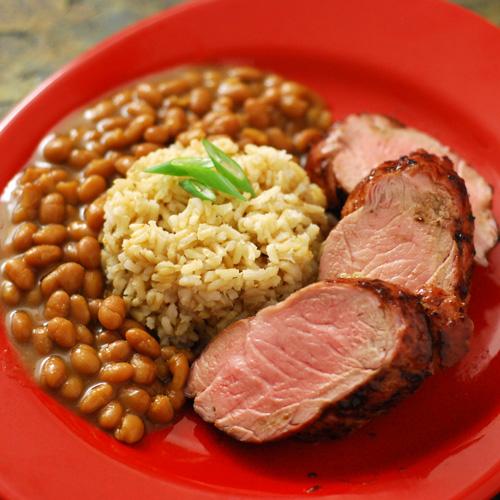 grilled pork tenderloin blackberry bbq sauce, BGE pork recipe