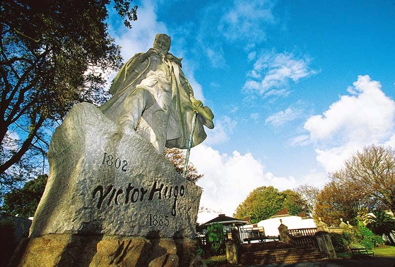 Victor Hugo memorial, Candie Gardens