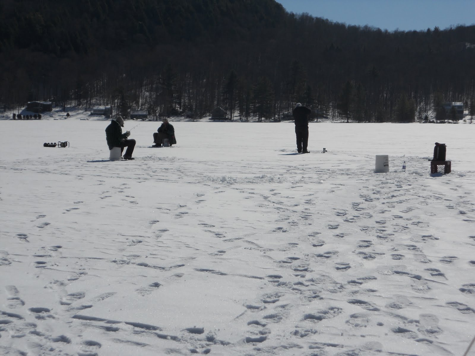 Guided Vermont Ice Fishing Trips February 2011