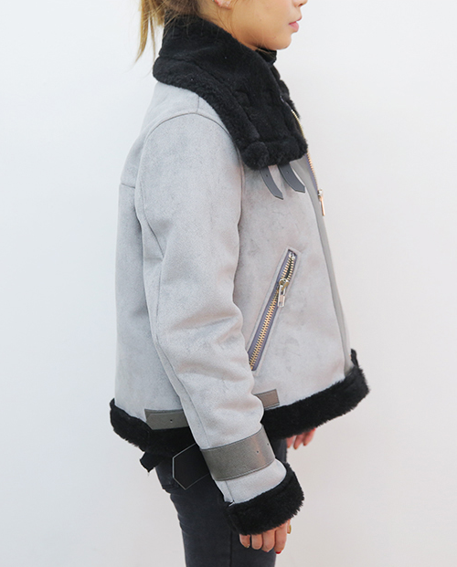 Convertible Neck Lined Jacket