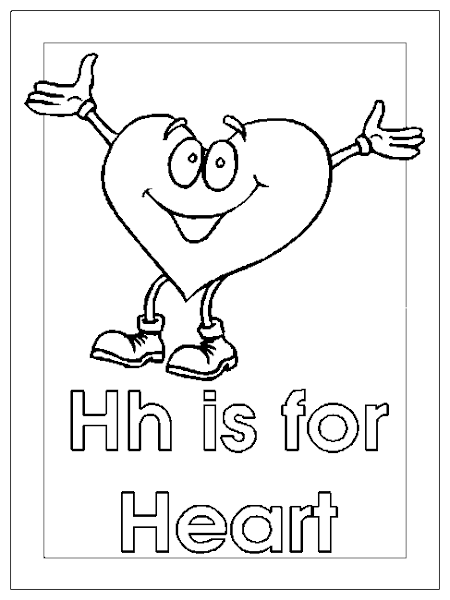 Heart Coloring Pages Letters