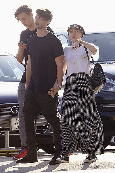 Miley Cyrus and Patrick Schwarzenegger in Malibu