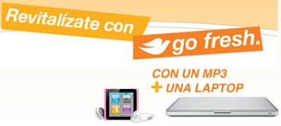 premios computadora portatil Mac Book Pro ipod nano Concurso Dove Go Fresh Durazno y Jengibre Blanco Mexico 2011