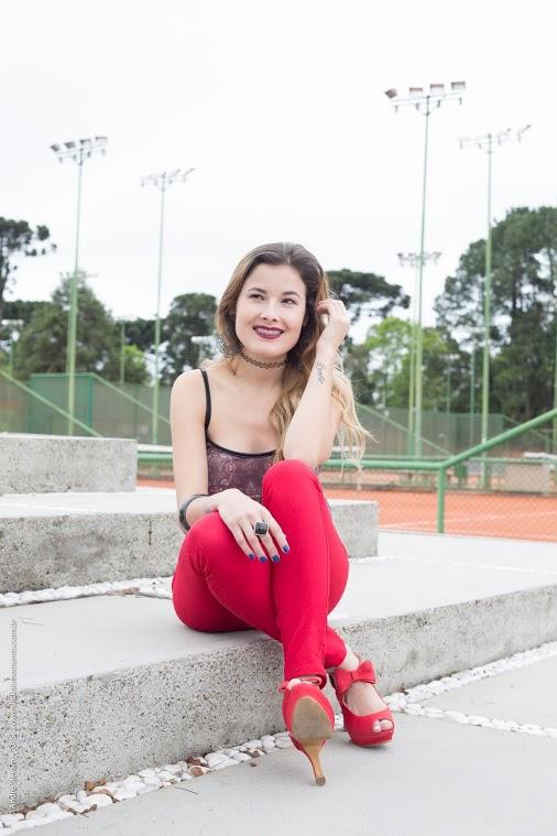 Calça Hot Pants Vermelha | Blog Ally Arruda | Click do Momento Fotografia