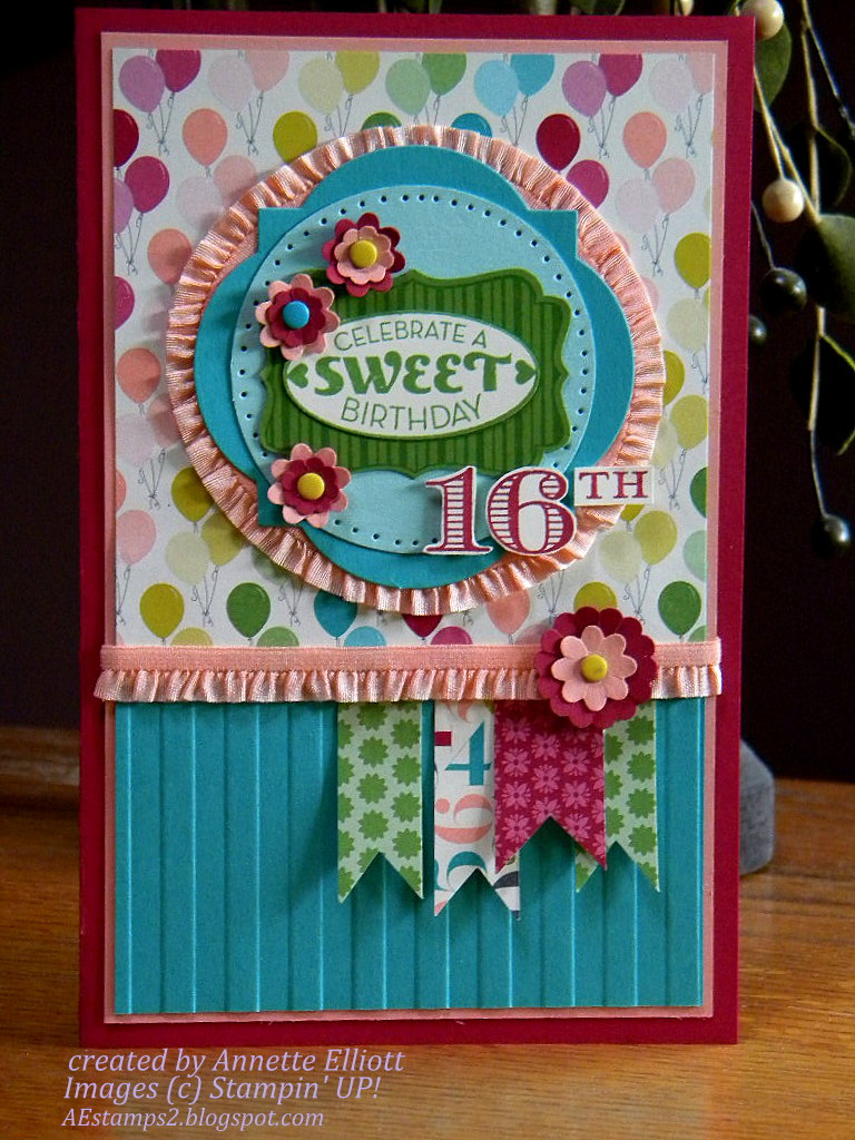 AEstamps a Latte Happy Sweet 16 to my daughter Rebecca – Happy Sweet 16 Birthday Cards