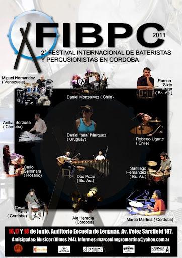 2° Festival Internacional de Bateristas y Percusionistas CB