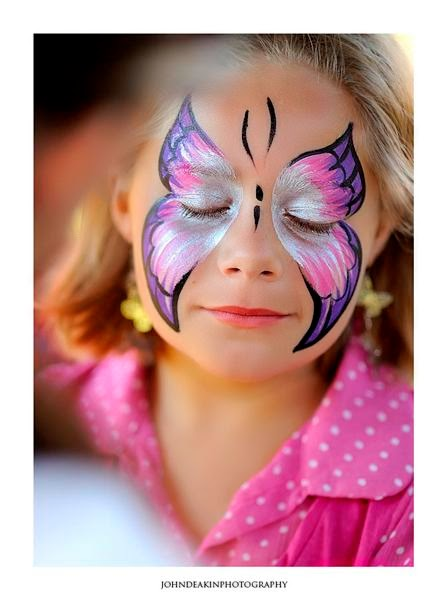 Butterfly Halloween Face Paint Full Butterfly Face Painting