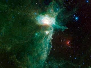 Туманность Пламя в созвездии Ориона