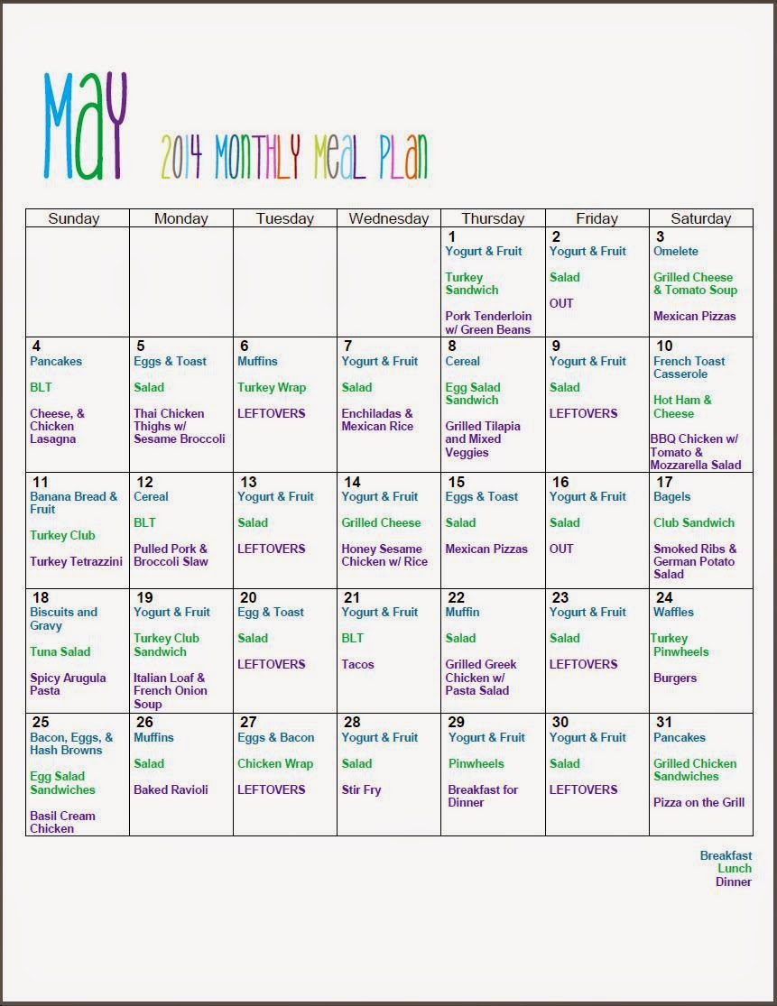 Monthly Meal Planning with Mom Mart #FreePrintable #MealPlan #Organize List of meals with links to recipes