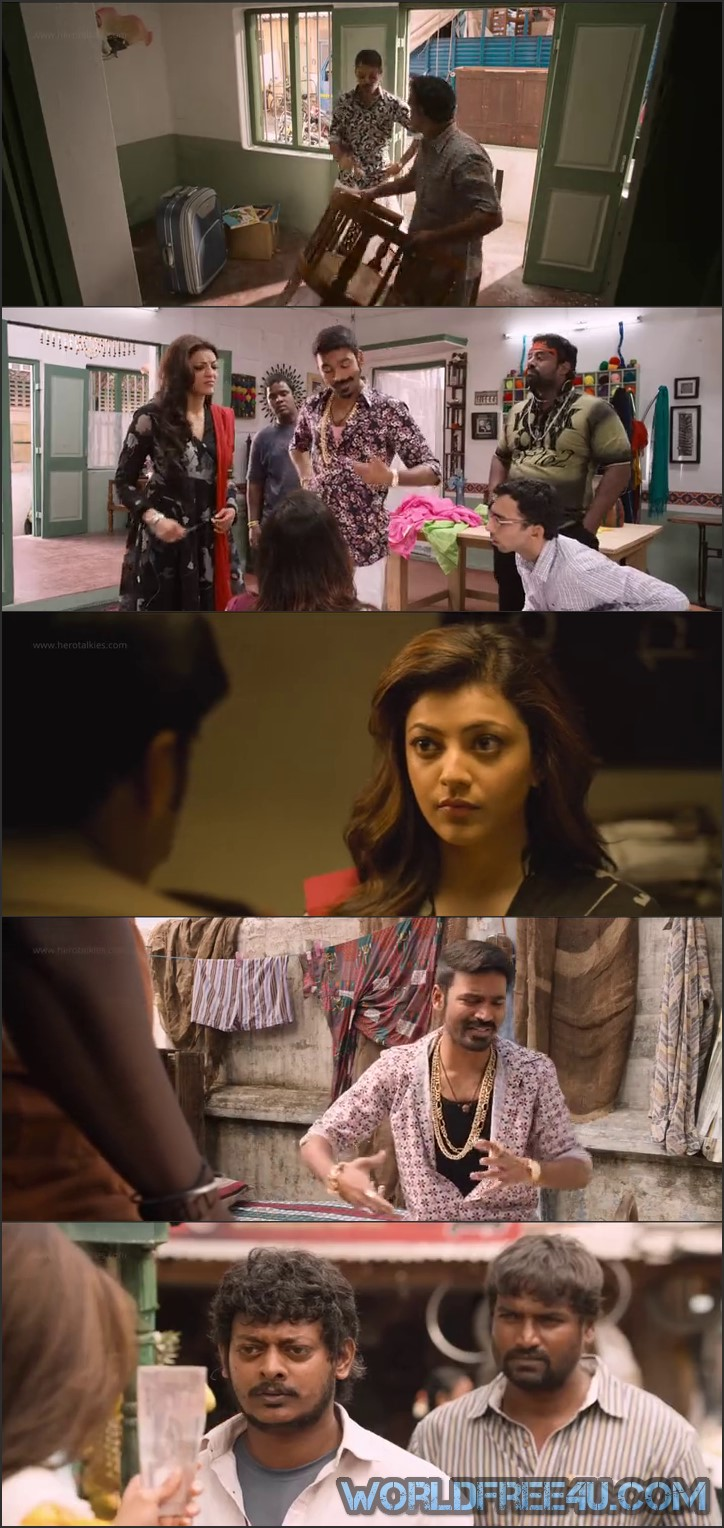 Screen Shot Of Maari 2015 300MB Full Movie Hindi Dubbed Free Download 480P BRRip Small Size PC Movie