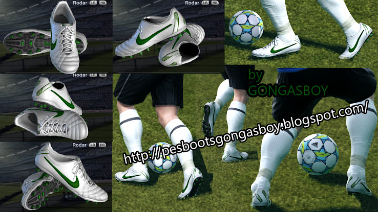 PES 2012 Nike Tiempo IV Elite White/Green Boot by Gongasboy
