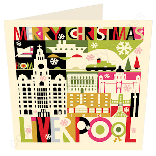 Christmas Card Liverpool City Scape by Wotmalike