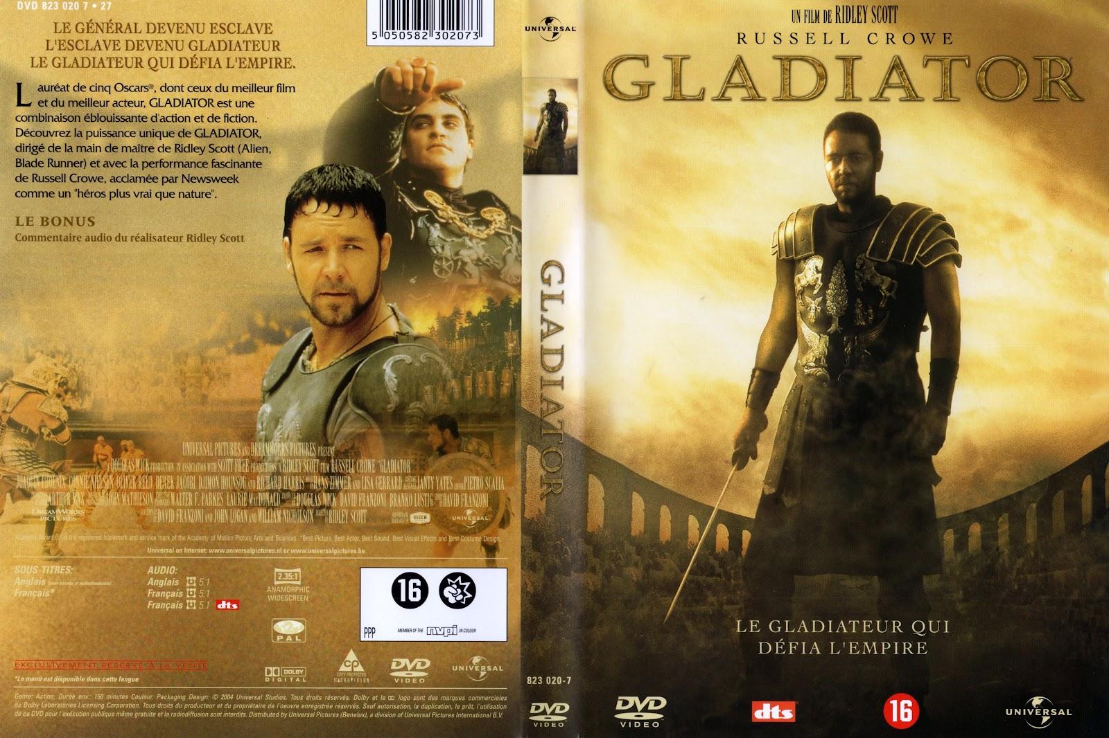 Gladiator Dvd Disk Cover