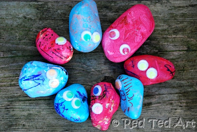 photo of: Rock Monsters from RedTedArt (via Monster RoundUP from RainbowsWithinReach) 