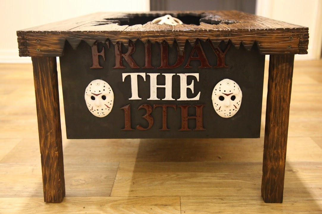 Custom Friday The 13th Coffee Table Imprisons Jason