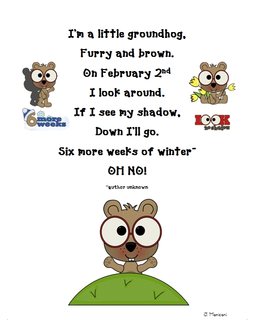 First Grade Gallery- Lessons for Little Learners: Groundhog Day ...