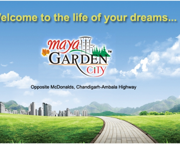 3bhk apartment, zirakpur, maya garden city, luxury flat, real estate, real masterz, property