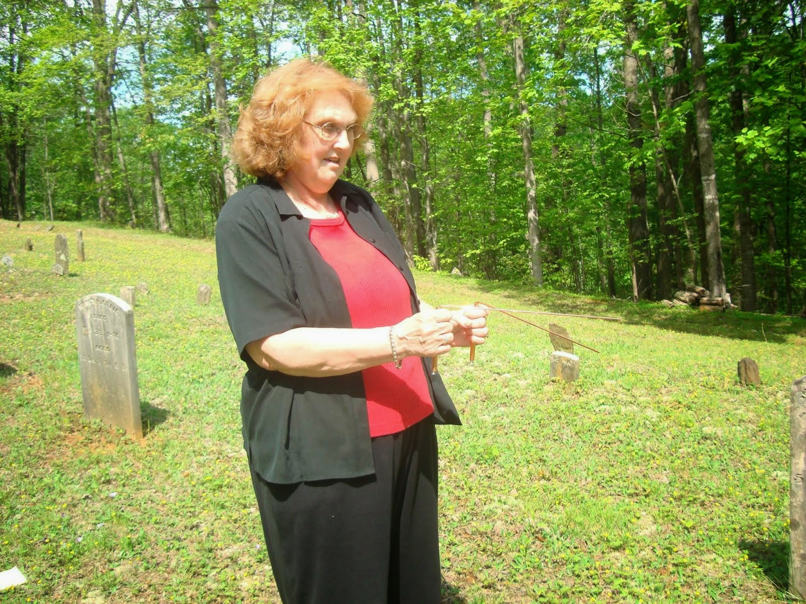 Dowsing for Buried Gravestones