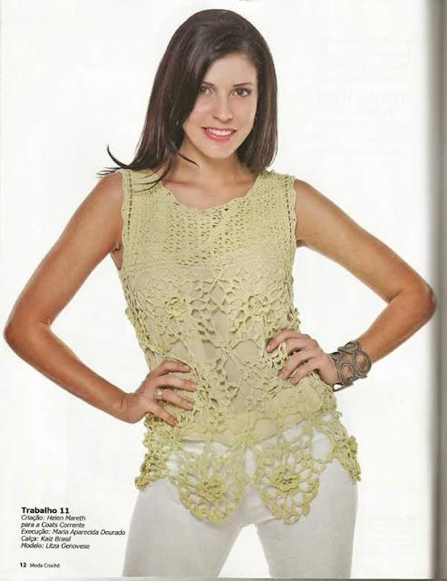 blusa crochê fácil bonita