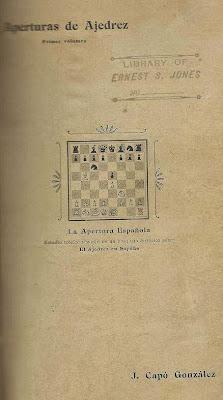 Portada del libro La Apertura Española ó Ruy López