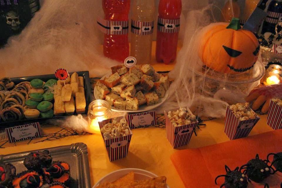 décoration et gourmandises Halloween
