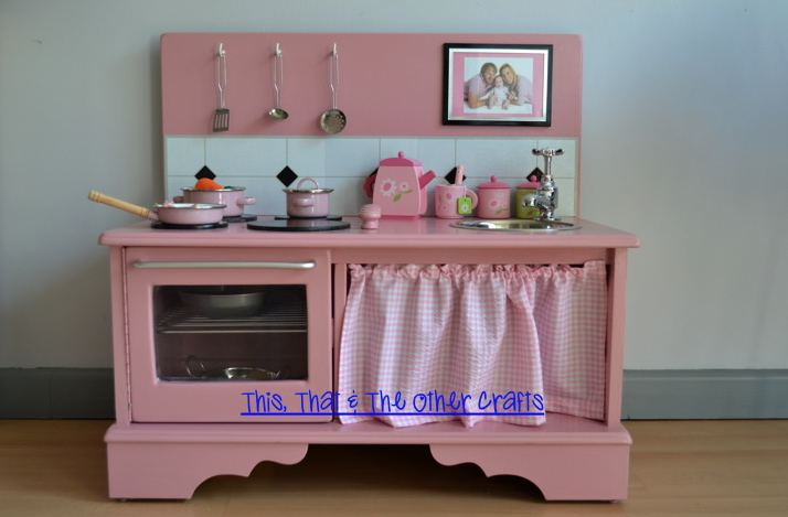 This That And The Other Crafts Handmade Wooden Play Kitchen Cocinita De Madera Hecha A Mano