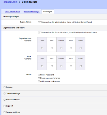 google apps delegated administration