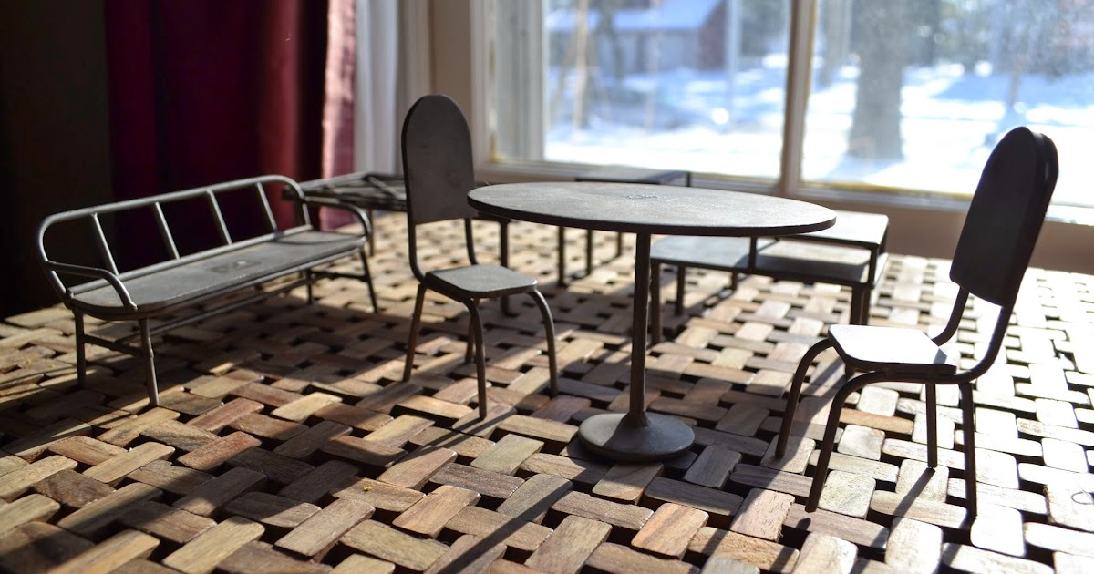 Dollhouse furniture - Call Of The Small Midcentury Metal Dollhouse Furniture