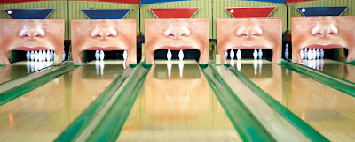 Bowling Lane Insurance Advertisement