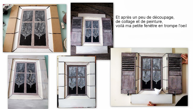 upcycling fenetre tableau en trompe l 39 oeil. Black Bedroom Furniture Sets. Home Design Ideas