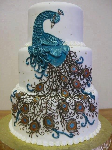 ... Decorating Wedding Cakes In Peacock Style, Most Of Wedding Cake  Designers Have Implemented An Amazing Peacock Type Wedding Cake Styles To  The Wedding ...