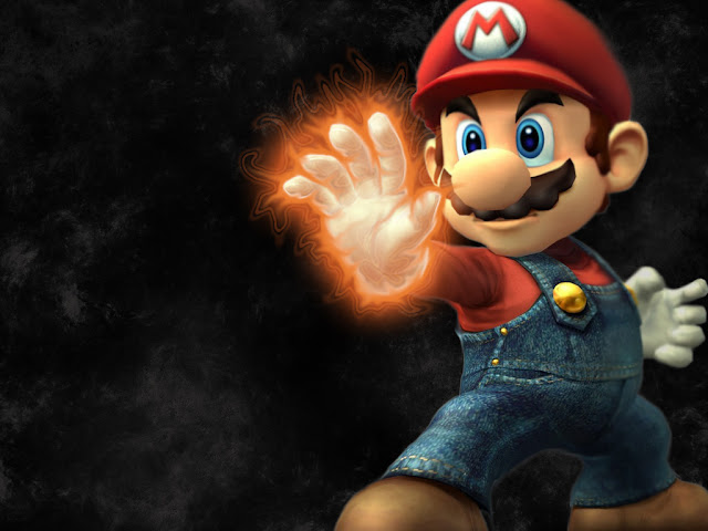 mario fire ball 3d super smash bros brother brawl ssbb