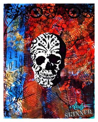 Gelli print stencils andy skinner