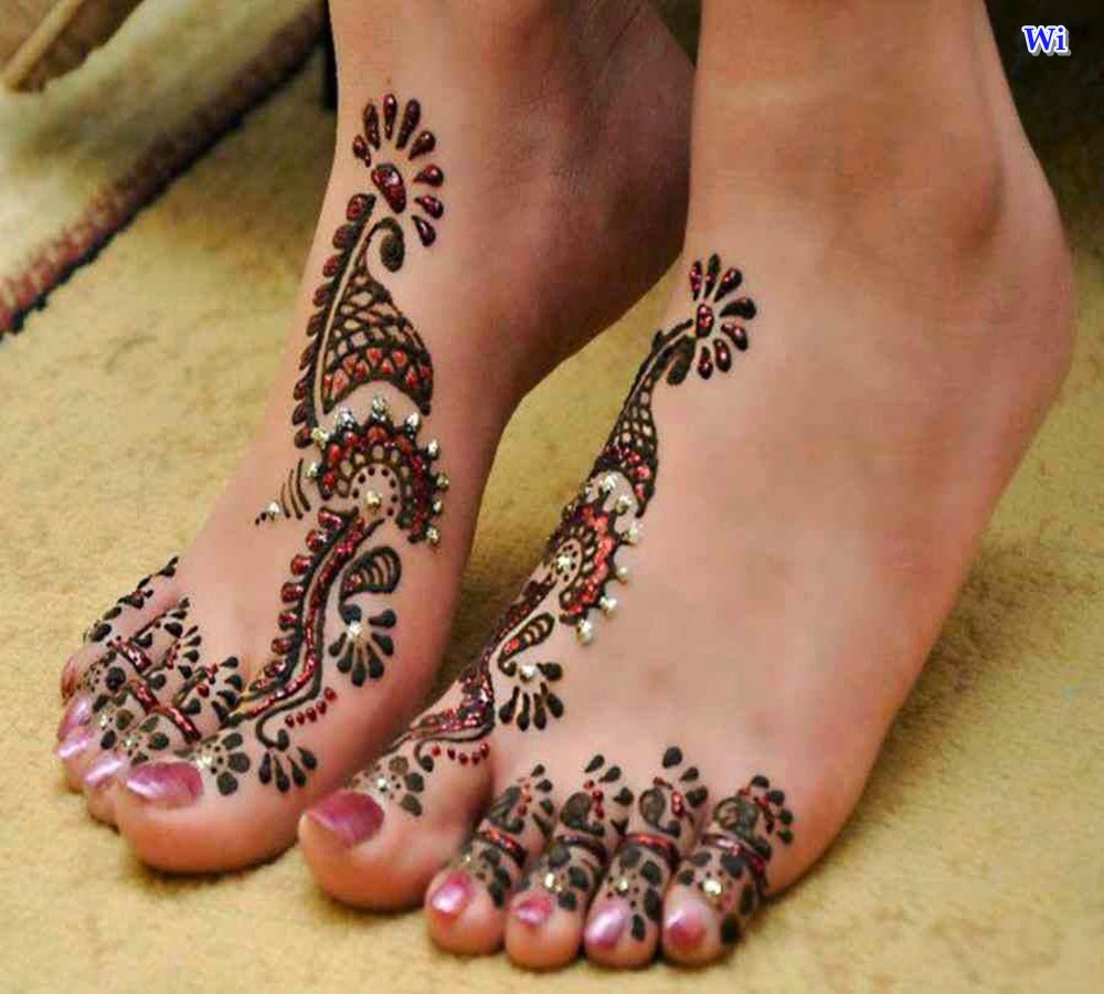 Mehndi Page Models Henna To The Bride39s Feet