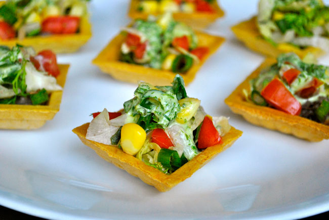 The tasty bites fiesta canapes for Canape menu ideas
